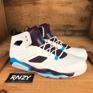 6c14a150498 NEW Nike Jordan Flight Club 91 White Blue Lagoon